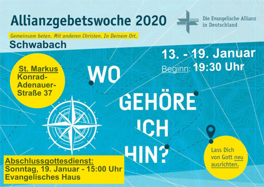 Allianzgebetswoche in Schwabach vom 13. bis 19. Januar 2020